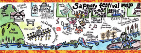 Festival Map of Sapporo, Japan