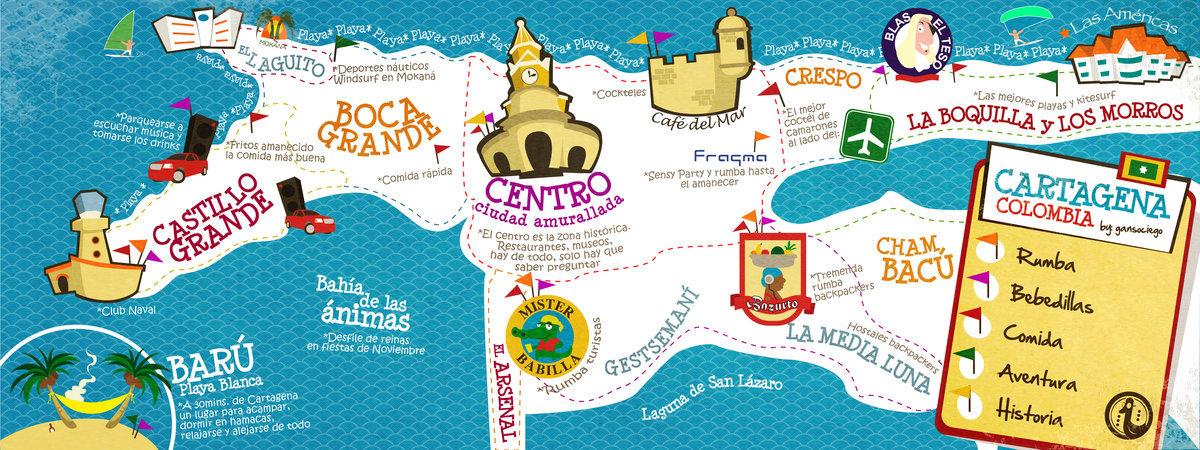 Map Of Cartagena Colombia Images - Cartagena de indias map