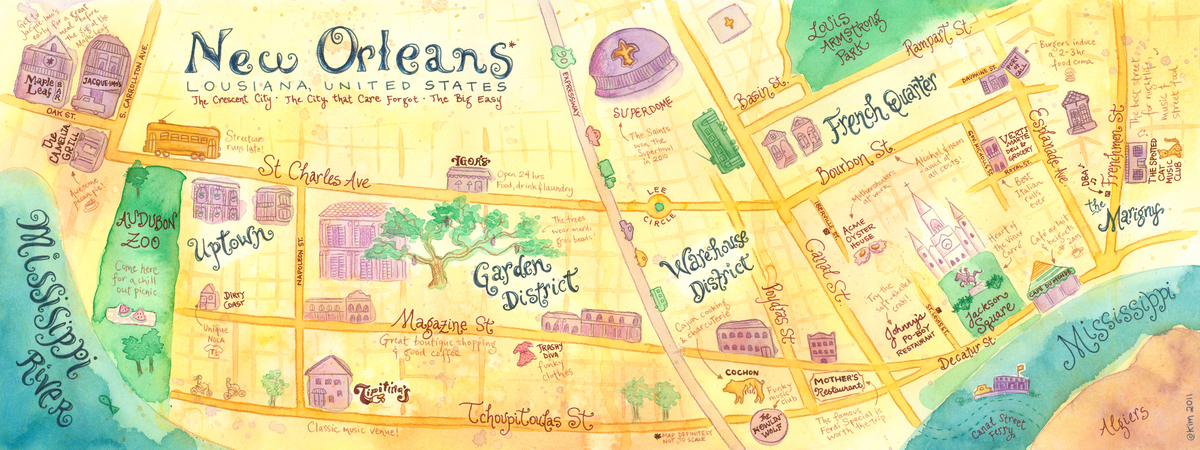 New Orleans Maps Maps Of New Orleans Louisiana La Usa – Tourist Attractions Map New Orleans