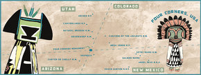 Ruins Tour of Four Corners, USA