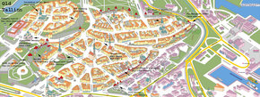 Map of Old Tallinn, Estonia