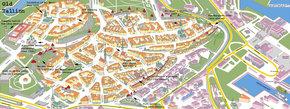 Map of Old Tallinn, Estonia