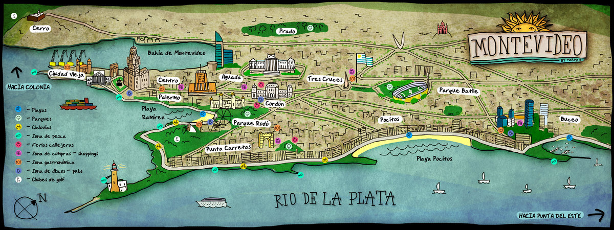 Montevideo Around the World in 80 Days Contest Entry The Sims – Uruguay Tourist Attractions Map
