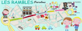 Les Ramblas of Barcelona, Spain