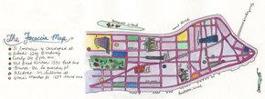 Focaccia Map of New York City
