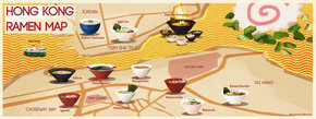 Ramen Map of Hong Kong, China