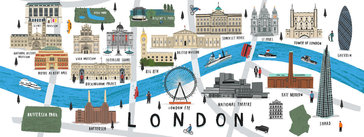 Map of London, UK